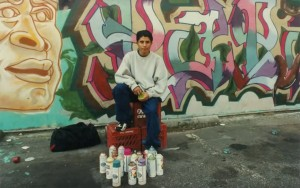 Moving from one war zone (Nicaragua) to another (14th and Park Road in the 1980's,) Luis first used his talent as a street artist to reflect the battles for turf around him. Now, he creates messages of love and beauty so that young people are not overwhelmed by their still-harsh surroundings. In collaboration with Efrain Ramirez.