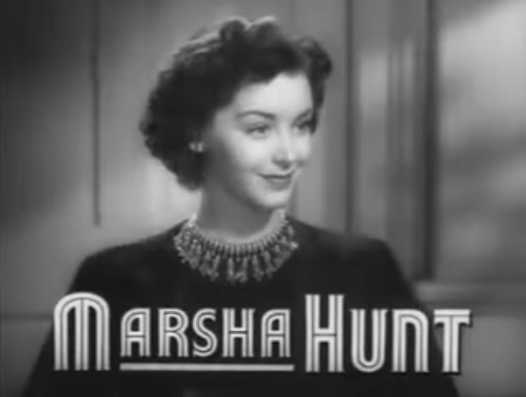 "Marsha Hunt in ""Cry Havoc."""